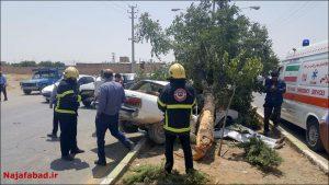 آتش نشانی نجف آباد تصادف مرگبار در محور نجف آباد تصادف مرگبار در محور نجف آباد                                              4 300x169