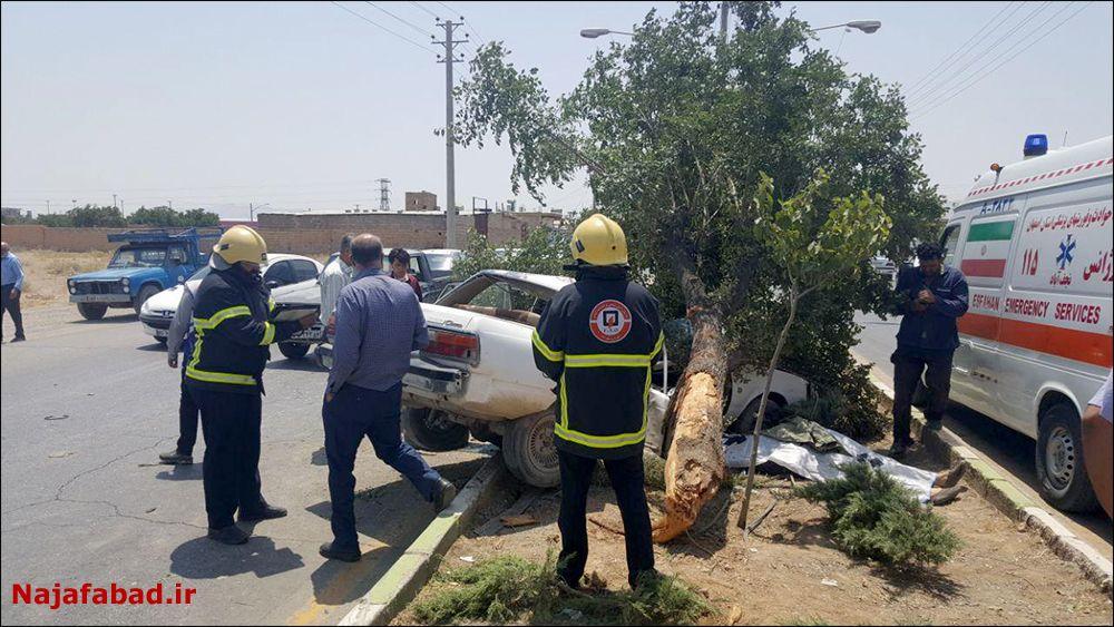 تصادف مرگبار در نجف آباد + تصاویر