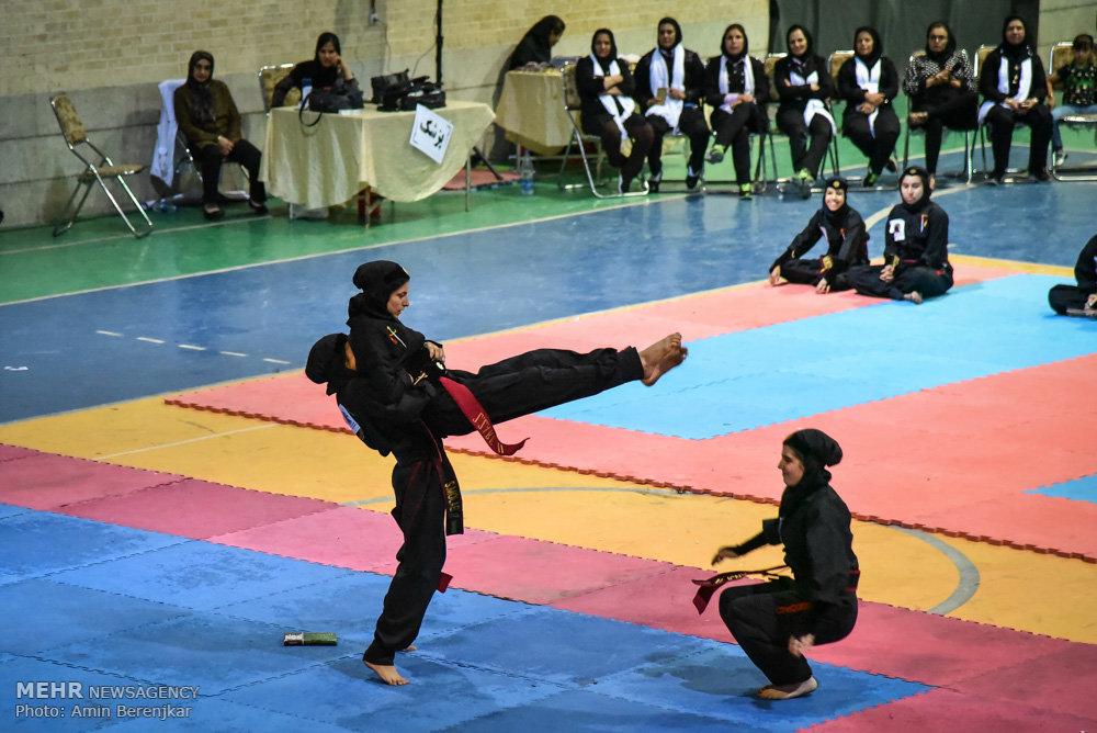 مسابقات کونگ فو تو آ سنتی بانوان در نجف آباد/ ورزشی شرک آلود؟