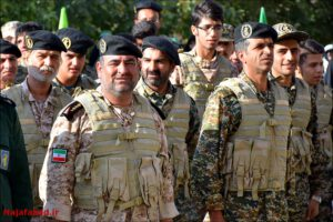 صبحگاه مشترک نیروهای نظامی نجف آباد