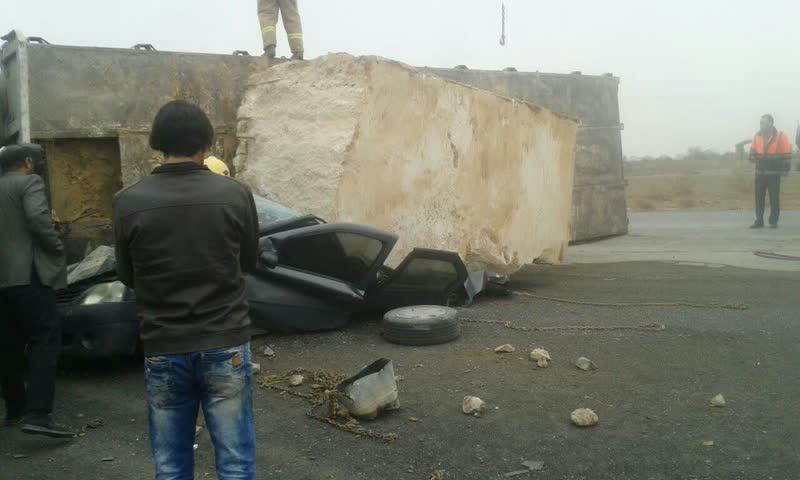 تصادف وحشتناک و مرگبار در جاده نجف آباد به تیران+ تصاویر