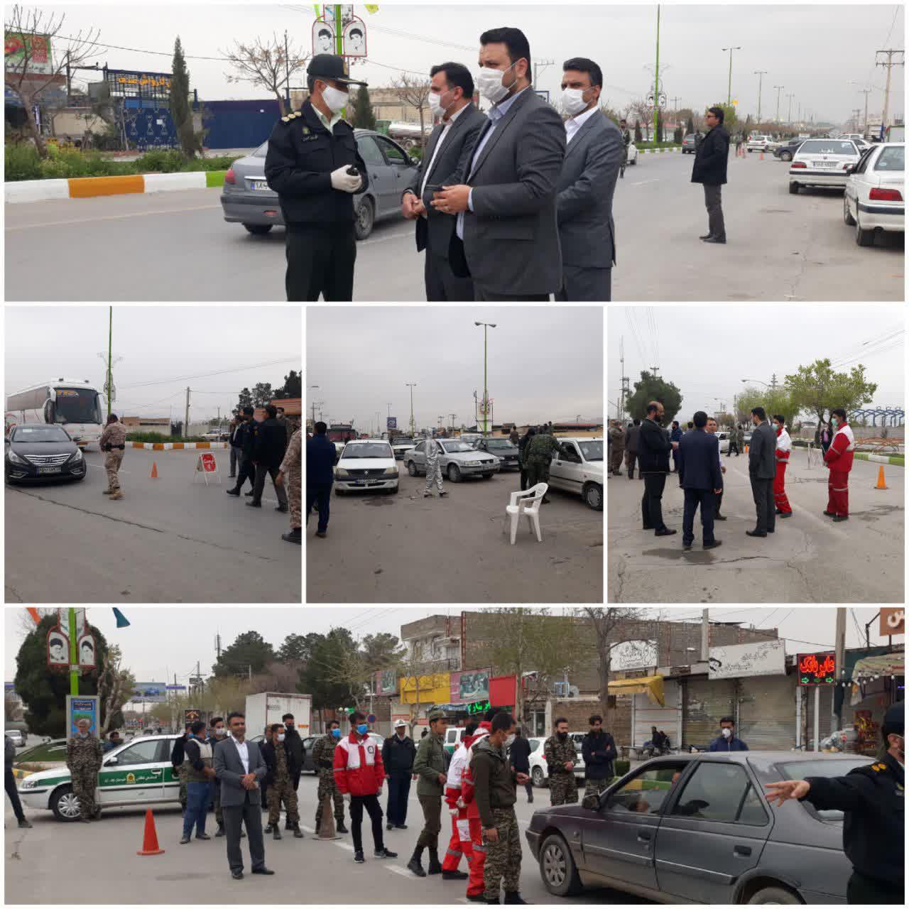 انسداد ورودی های نجف آباد+تصاویر انسداد ورودی های نجف آباد+تصاویر