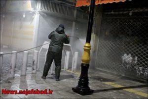 ضد عفونی معابر نجف آباد برای کرونا