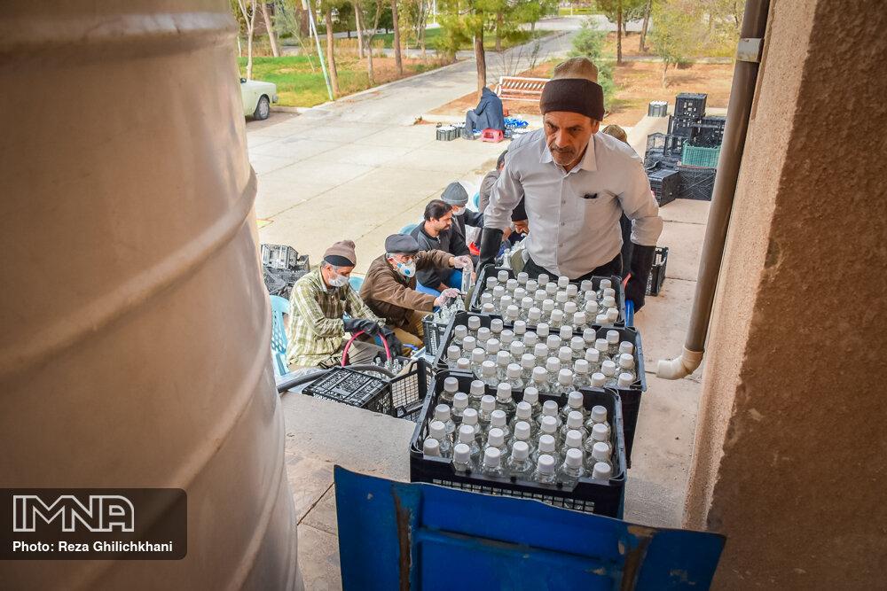 آماده سازی مواد ضد عفونی آماده سازی مواد ضدعفونی در نجف آباد+تصاویر آماده سازی مواد ضدعفونی در نجف آباد+تصاویر 1629854