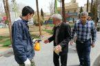 ضدعفونی کردن معابر نجف آباد توسط بسیجیان+تصاویر