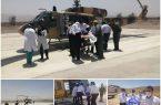 ثبت اولین فرود بالگرد اورژانس در بیمارستان نجف آباد+تصویر