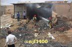 اعلام علت آتش سوزی در بازار نجف آباد+تصاویر جدید