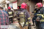 آتش سوزی در بازار نجف آباد+تصاویر و فیلم