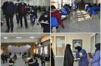 حضور ۱۵۰۰نفر در آزمون استخدامی در نجف آباد+تصاویر